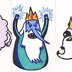 Lumpy Space Princess , Ice King , and Gunter  by SteveHanna