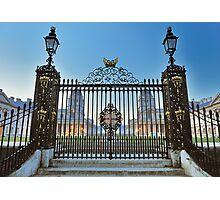 Royal Naval College Gates Photographic Print