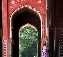 Taj Mosque Pilgrim by David Clark