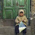 Small boy eating pop corn - Bolivia by chrisfx