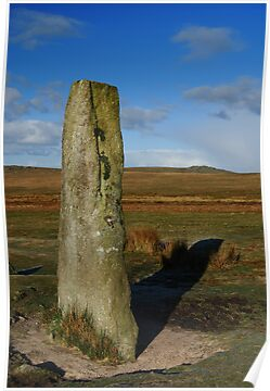 Standing Stone, Giants Basin, Dartmoor National Park by DonDavisUK