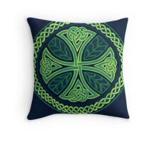 Foliate Cross Throw Pillow