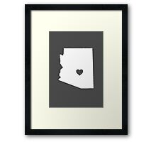Arizona Heart Framed Print