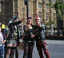 Fingers Up: Punk Rockers and the House of Parliament by DonDavisUK
