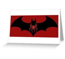 Batman VS Spider-Man Greeting Card