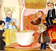 BBC Sherlock - travel mugs  by Zasha Latief