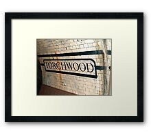 Welcome to Torchwood Framed Print