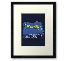 The Mansion Distressed Framed Print