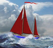 S/Y Magali, My Cutter Rigged Ketch - all products by Dennis Melling