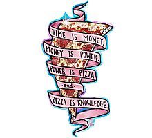 Pizza is Knowledge CutOut Photographic Print