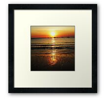 Sunset Gold Framed Print