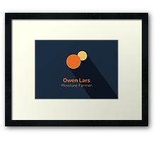 Owen Lars - Star Wars Framed Print