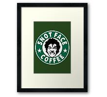 Snot Face Coffee Framed Print
