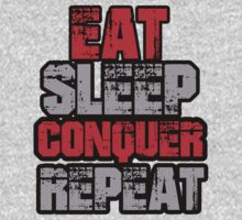 Brock Lesnar EAT SLEEP CONQUER REPEAT Custom Shirt by Dominique Paige
