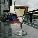 A glass of wine at Ocean Terminal, Leith by Jo Newman