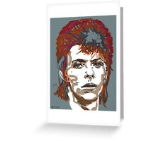 Bowie As Ziggy Greeting Card