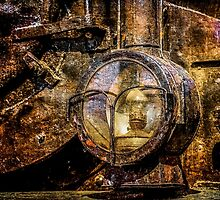 Headlight Of The Vintage Steam Train by luckypixel