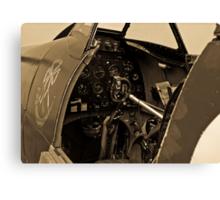 Supermarine Spitfire Cockpit Canvas Print