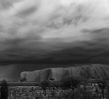 Uluru - The Beginning Of The Rain by Bart The Photographer