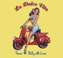 Vespa Scooter Girl - La Dolce Vita  Kids Clothes