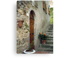 Entrance to Elementary School in Gressa Canvas Print