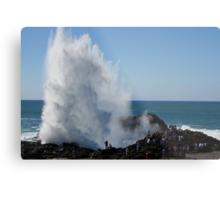 Crashing Wave At Kiama Metal Print