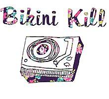 Bikini Kill Purple Floral Riot Grrrl Feminist Design Photographic Print