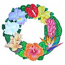 Tropical Wreath by joeyartist