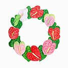 Hawaiian Anthurium Wreath by joeyartist