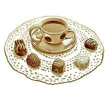 Sicilian Espresso and Chocolate Lace Photographic Print
