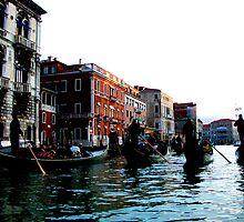 Gondolas in Venice by ielchan
