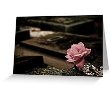 A Rose of Cloth Greeting Card