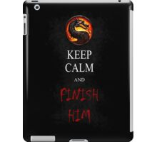Mortal Kombat T-shirt Keep Calm and Finish Him iPad Case/Skin