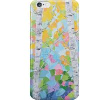 Dancing Birch Trees No. 2 iPhone Case/Skin