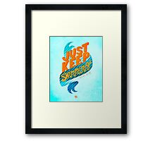 Pixar Finding Nemo Quote Framed Print