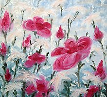 Wonderfully Rose And White by Daniela Georgieva