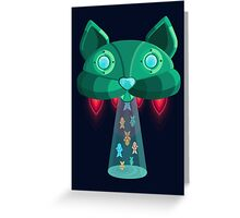 CatShip Greeting Card