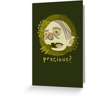 A hasty portrait of Gollum Greeting Card