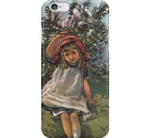 Little Girl At Play-Available As Art Prints-Mugs,Cases,Duvets,T Shirts,Stickers,etc iPhone Case/Skin
