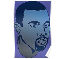 Monday Kanye Blue Poster