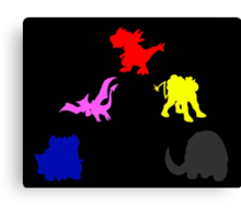 Pokemon Dinozords Canvas Print