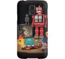 Vintage Robot & Friends Samsung Galaxy Case/Skin