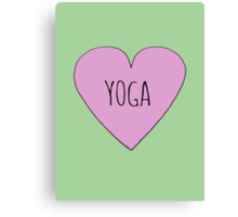 Yoga Love Canvas Print