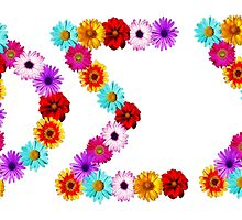 Phi Sigma Sigma Flower Letters by ariellarose