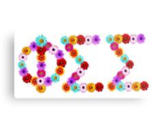 Phi Sigma Sigma Flower Letters Metal Print