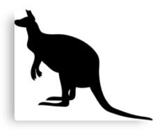 Kangaroo Silhouette  Canvas Print