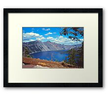 Clouds over Crater Lake 1979 Framed Print