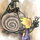 Jeffery Meets The Hermit Snail Rider by Steven Novak