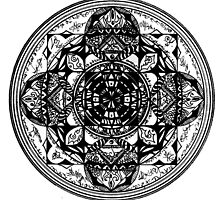 Inscribed Square Mandala by d3xsolate