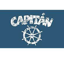 Capitan Wheel Vintage White Photographic Print